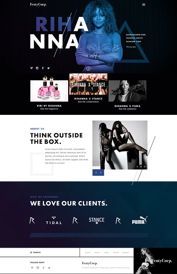 Fenty Corp Website