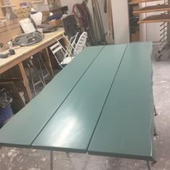 Plankebord lakeret