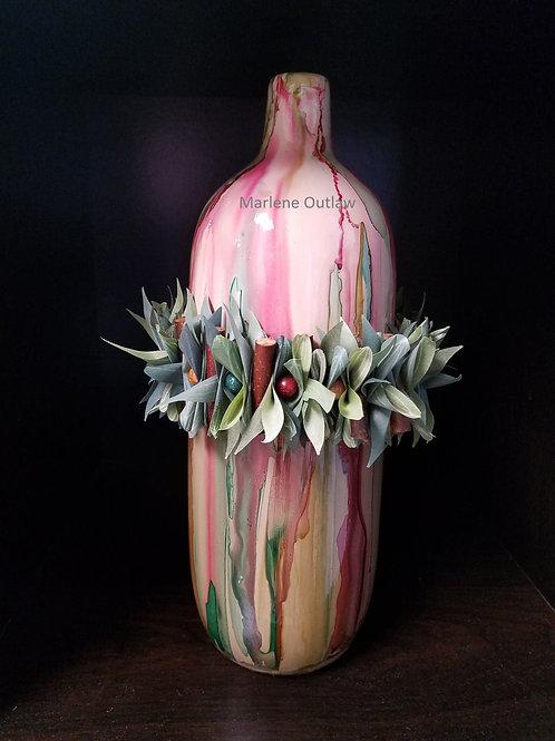 Tall Festive Vase #119