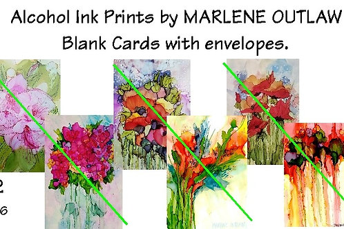 "Packaged Blank Cards and Envelopes 4.25"" x 5.5"" (6)"
