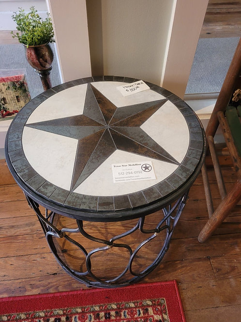 Mosaic & Iron Texas Star Table