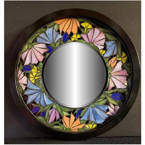 Mosaic Black Floral Mirror #127