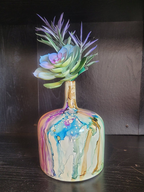 Small Ceramic Vase with foliage