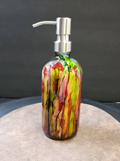 Small Soap Dispenser Rose Garden #154