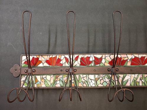 SOLD -Poppy Coat Hook Mosaic #126