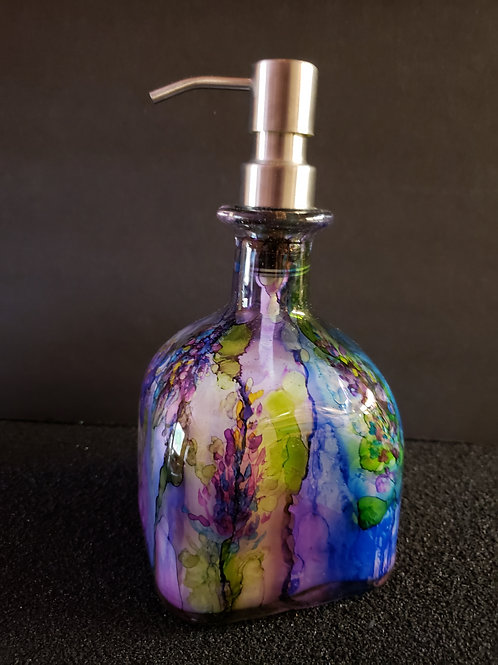 Patron Soap Dispenser (#155)  Purple Floral