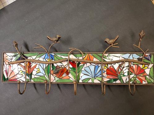 Mosaic Bird Coat Hook #125