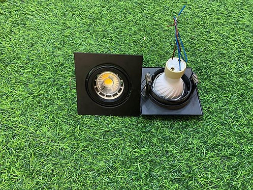 SQ95A Black Casing + Changeable GU10 6W Bulb