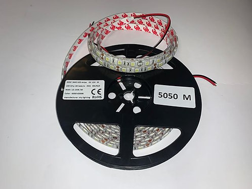 LED Strip 5050M 60 LED/meter IP65 (Waterproof) 12V
