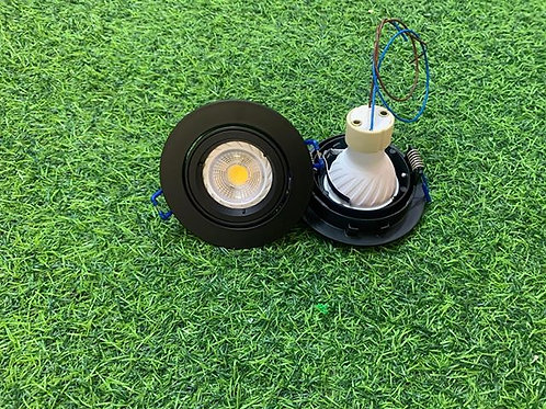 RD95A Black Casing + Changeable GU10 6W Bulb
