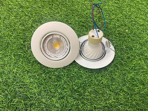 RD96A White Casing + Changeable GU10 6W Bulb