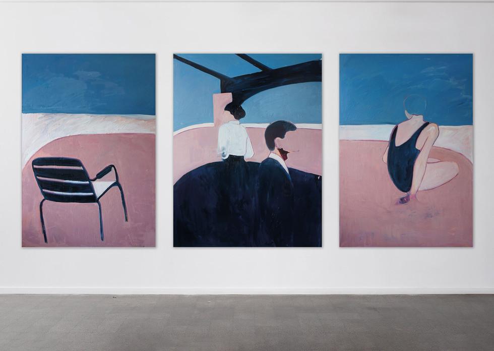 Summertime Sadness, triptych