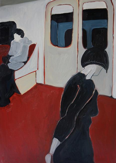 In the Metro Train
