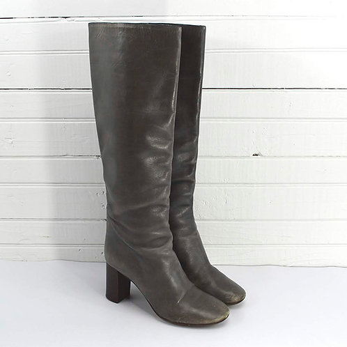 Chloe Grey Leather Boots #135-91