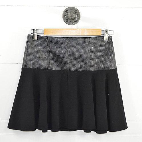 Tibi Faux Leather Mini Skater Skirt #186-78