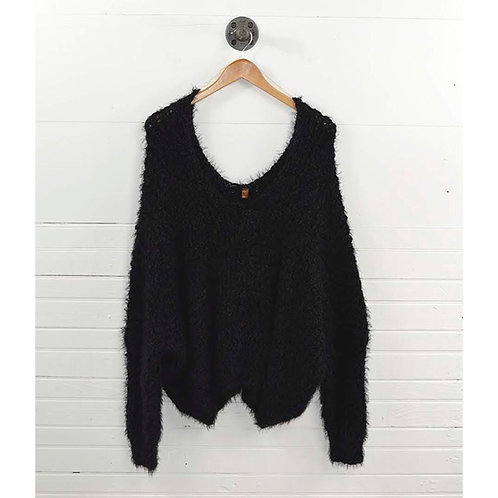 Over Size Knit V- Neck Sweater #175-21