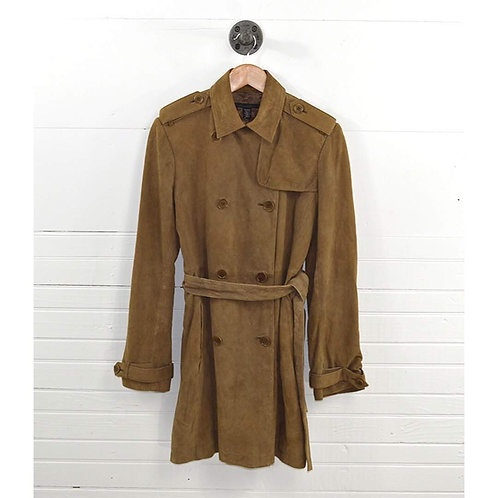 Kenneth Cole Suede Trench Coat #151-105