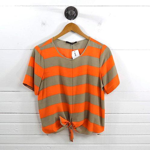 Tibi Tie Front Stripe Blouse #182-10