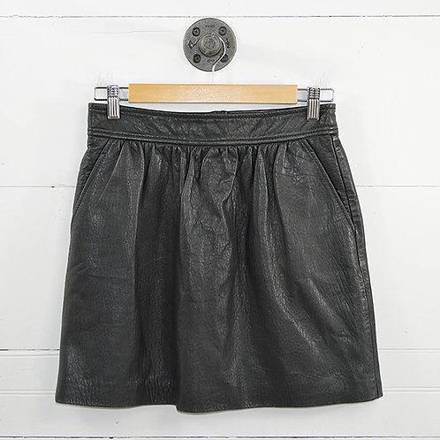 Tibi Leather Mini Skirt #182-9