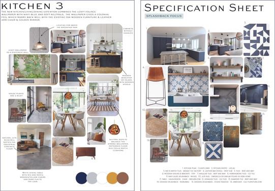 Kitchen Moodboard & Specification sheet