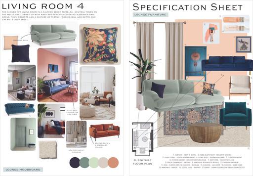 Living Room Moodboard & Specification Sheet