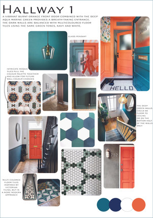 Hallway Moodboard & Colour Palette