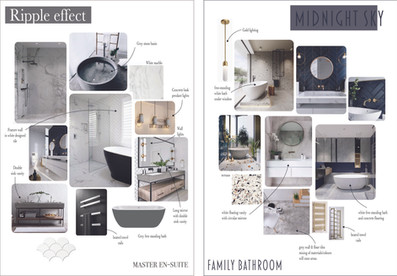 Initial Moodboard for a family bathroom