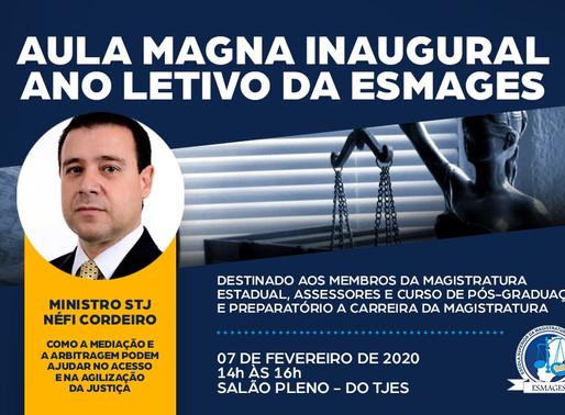 AULA INAUGURAL DO ANO LETIVO 2020 DA ESMAGES