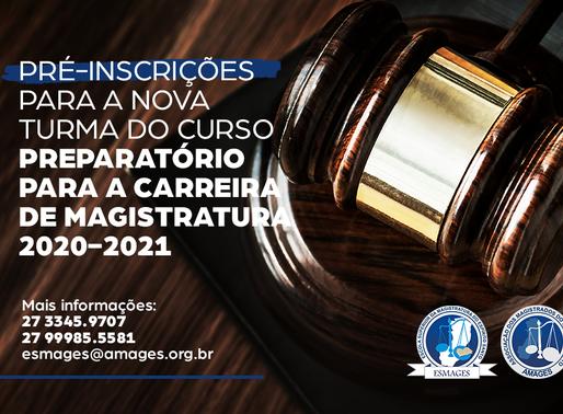 Período de pré-inscrições para Curso de Especialização e Preparatório à Carreira de Magistratura
