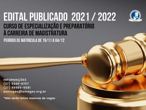 Esmages divulga edital do Curso Preparatório de Magistratura