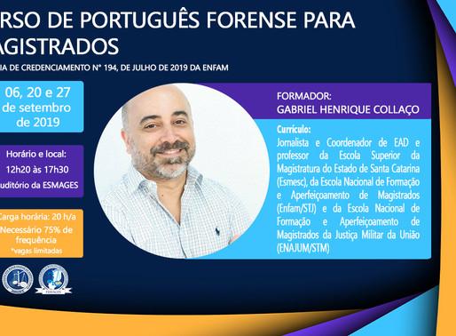 Abertas inscrições para Curso de Português Forense para Magistrados