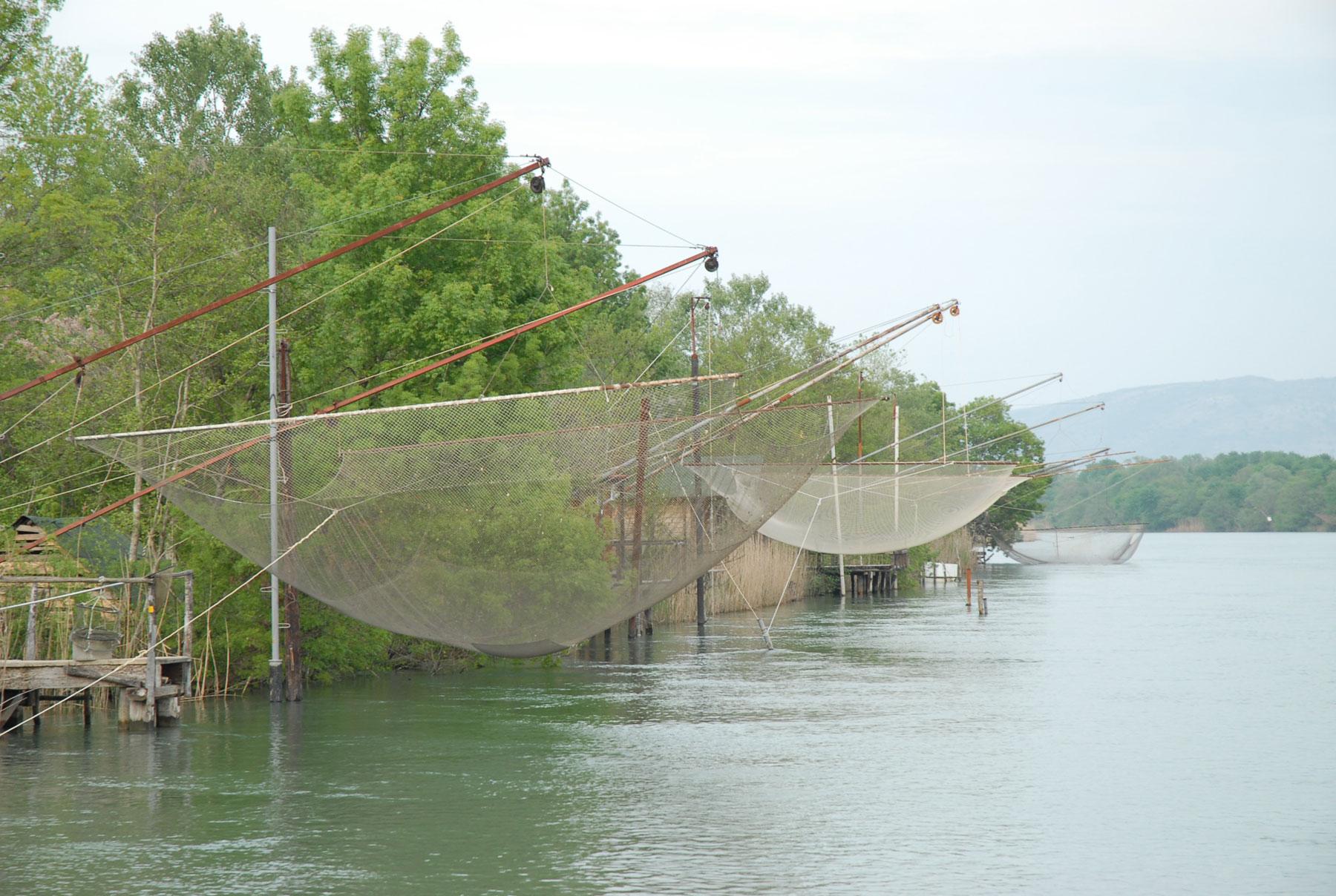 Fishing nets at Bojana