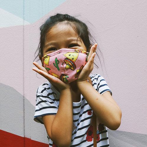 Pink Nachos Kids Mask