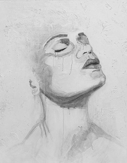 Art for slae, Art Class, Acrylic portrait Kas Rea Visual Arts Saskatoon