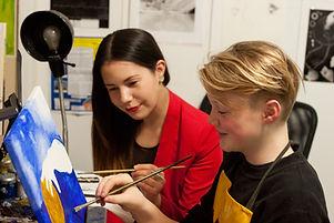 Art class, artist, Kas Rea Visual Arts, Saskatoon