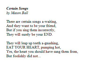 Certain Songs by Mason Ball