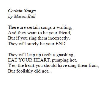 Certain Songs by Mason Ball