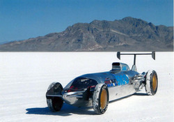 Custom Bonneville Salt Flat racer