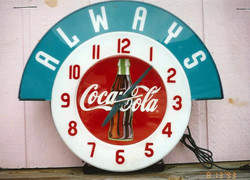 Coca-Cola clock face