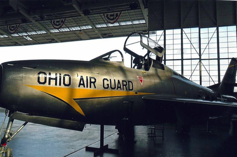 F84 F on display at MAPS Air Museum in North Canton, Ohio