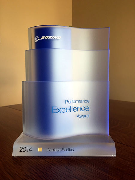 Airplane Plastics Boeing Performance Excellence Award