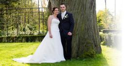 Hochzeitfoto in der Natur