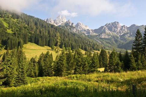 Bischofsmütze von den unteren Almwiesen