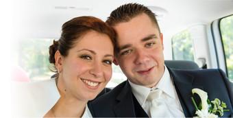 Hochzeitsfoto im Wunschauto