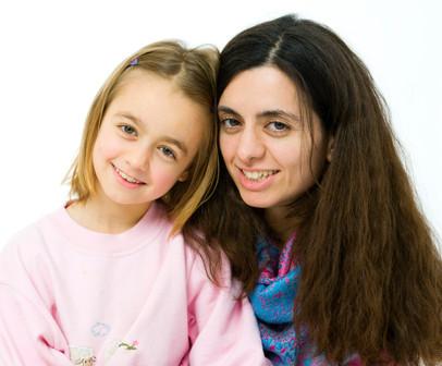 Familienfoto Mutter und Tochter
