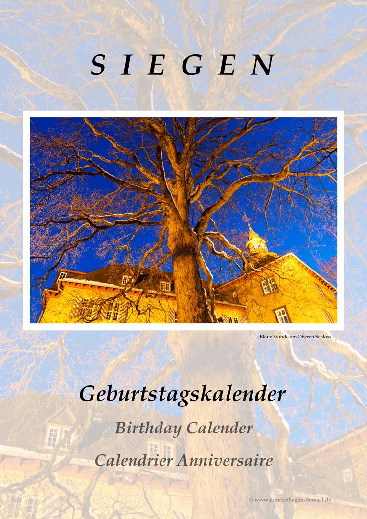 Geburtstagskalender Vorderblatt Siegen