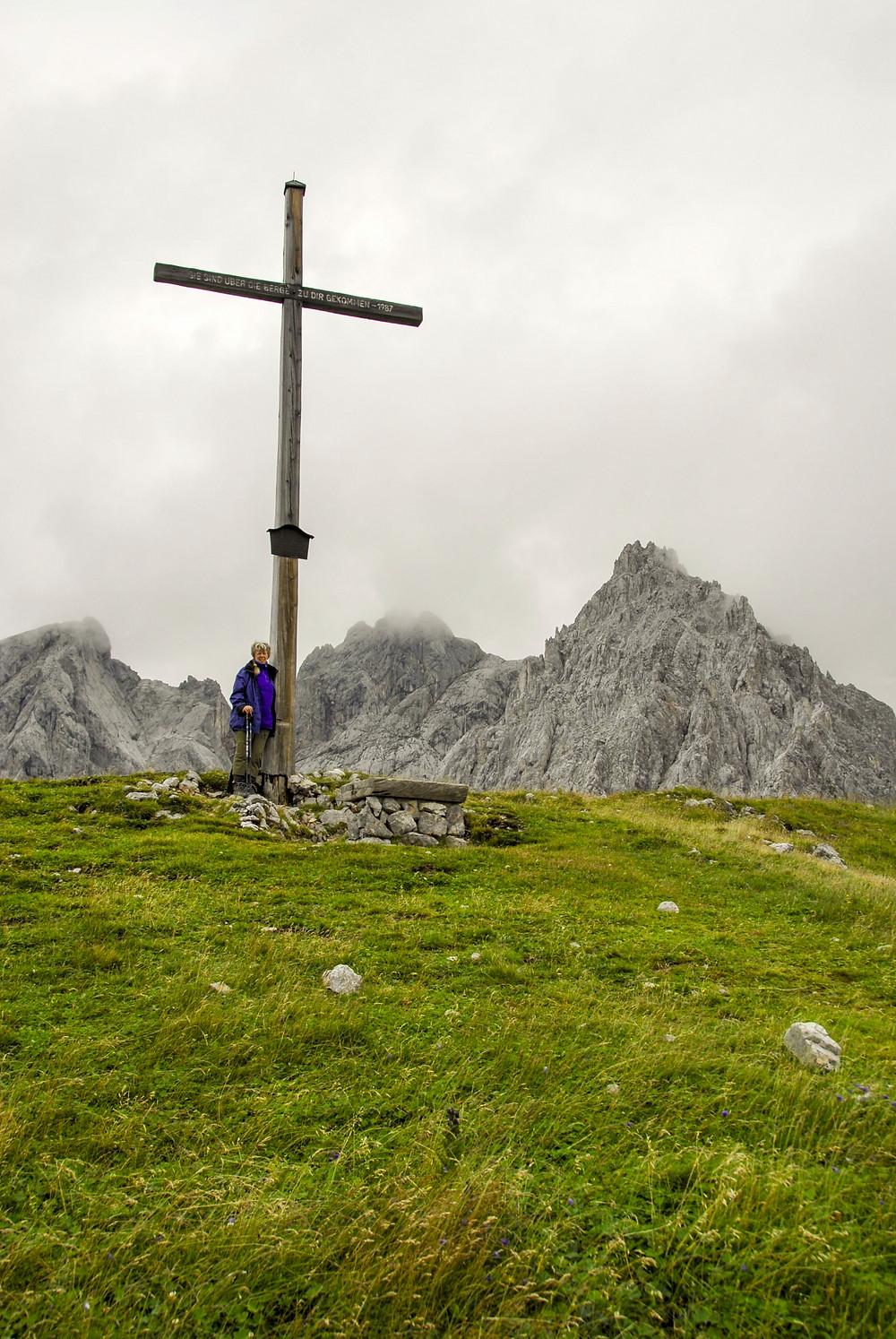 Gipfelkreuz des Eiskarlschneid
