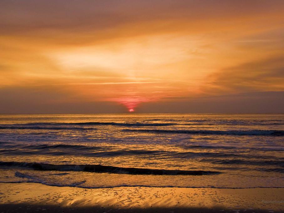 Sonneuntergang an der Nordsee