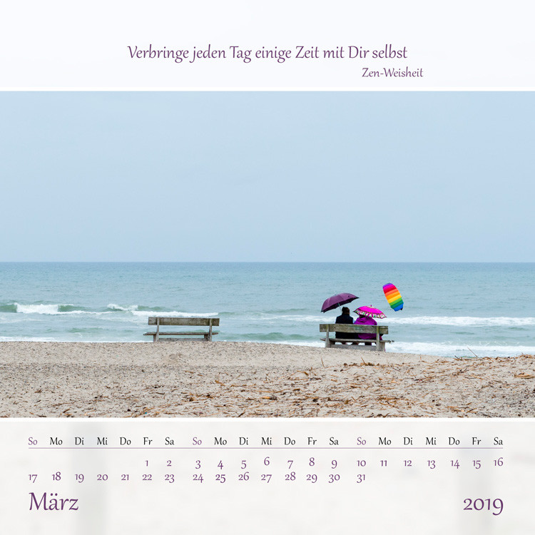Natur und Weisheit Tischkalender 2019