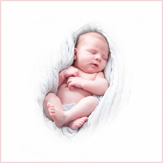 Babyfoto Milou einfach schlafend